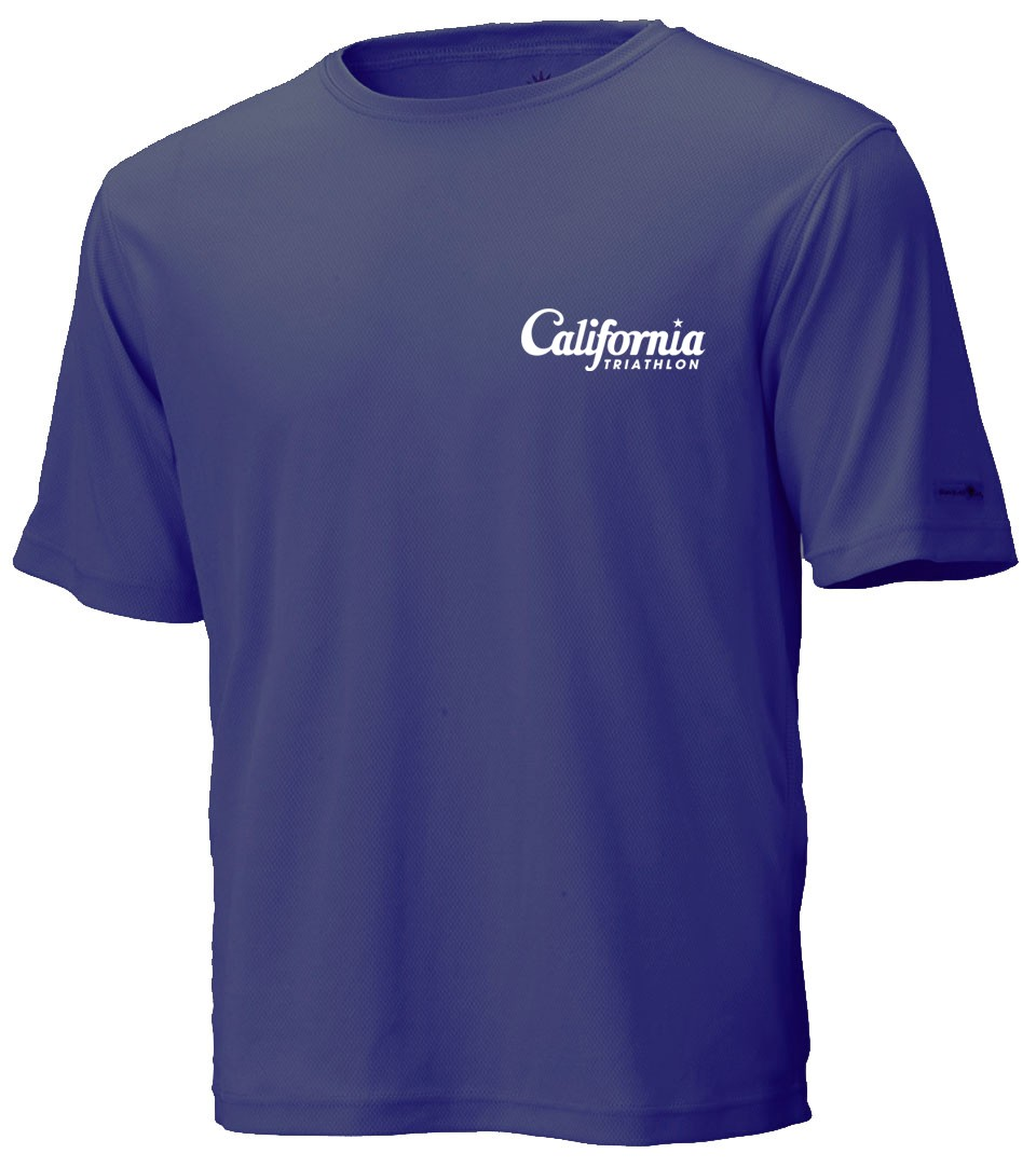 Unisex California Triathlon Short Sleeve Race Shirt Image
