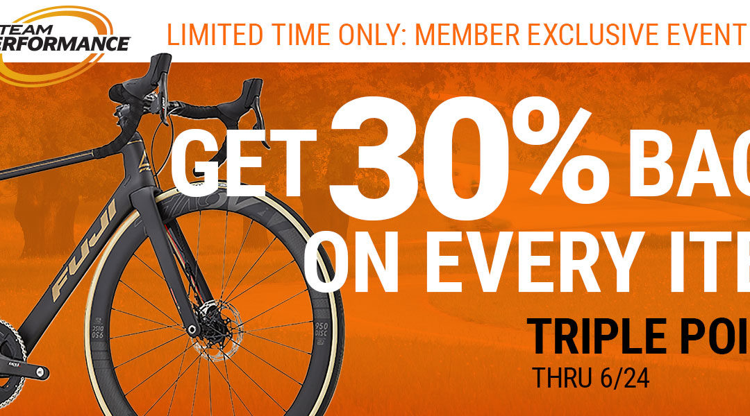Triple Points from Performance Bicycle ends 06/24