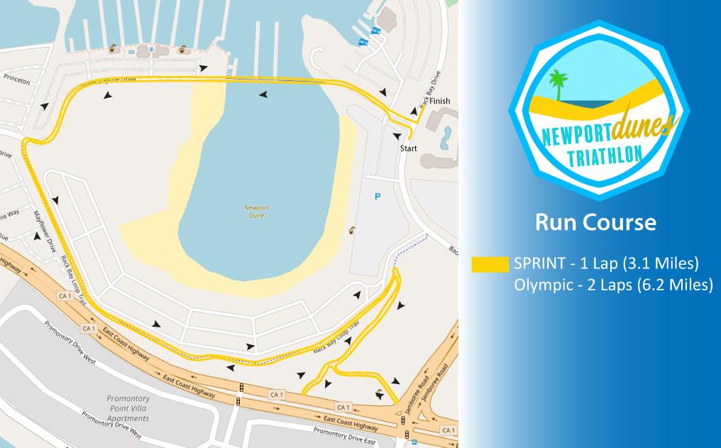 2018 Newport Dunes Triathlon: Run Course Preview