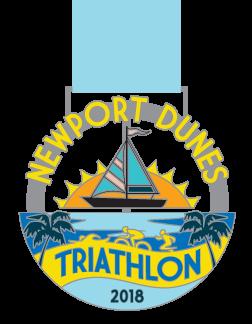 2018 Newport Dunes Triathlon Medal