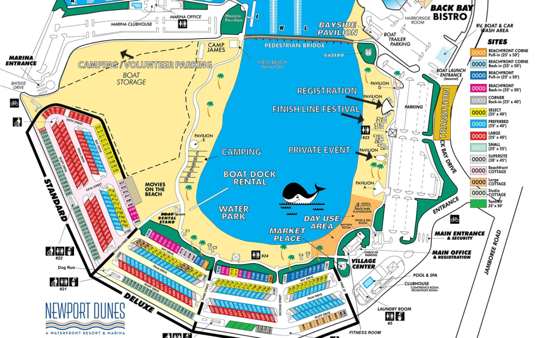 Detailed Map for 2018 Newport Dunes Triathlon